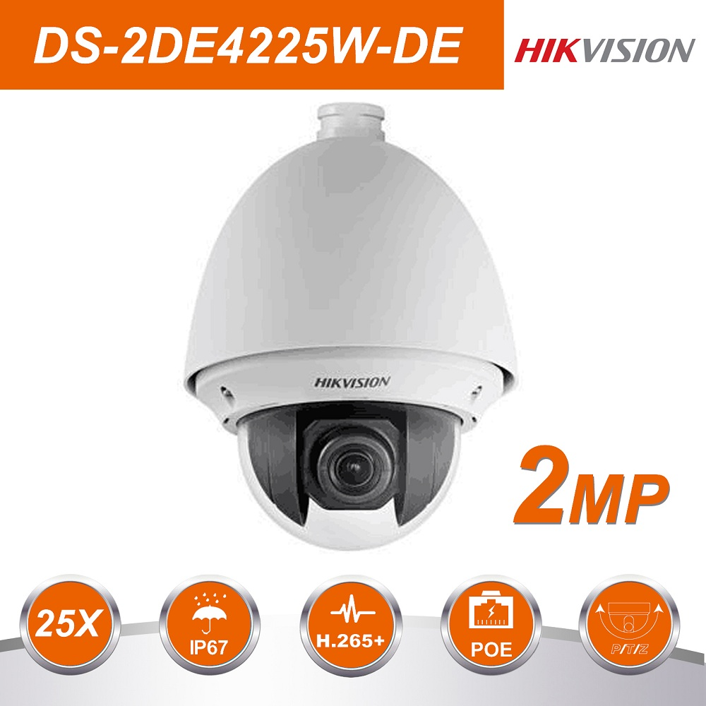 HIK Original DS 2DE4225W DE 25X 4 8 120mm Zoom lens POE IP Camera Surveillance Videcam