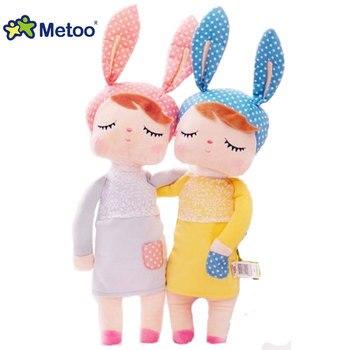 Moda gorąca sprzedaż Kawaii pluszowe nadziewane lalki królik Angela Cartoon zwierząt dzieci dziewczyna zabawki dla dzieci Metoo lalka na prezent urodzinowy