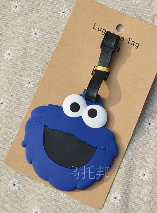 Sesame street e couple Luggage Tag Popeye PVC Pendants Portable Travel Label Fujiya Co milk girl Suitcase ID Address Holder tags