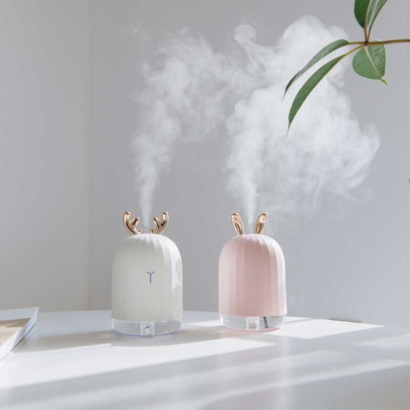 ejoai 220ml White Deer Mini Air Essential Oil Diffuser Aromatherapy Ultrasonic Humidifier LED Usb MIst Maker for Christmas Gift bomeineng 220ml white deer mini air humidifier essential oil diffuser aromatherapy household ultrasonic humidifier usb diffusers