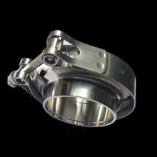 "Car General purpose pipe coupling fitting V-band Three Insert weld Easy Polished SUS304 Stainless works tial 3"" V-clamp collars(China)"