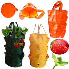 3 Gallons Strawberry Planting Bag Gardening Flower Panter Aerial Plant Vegetable Pot Grow