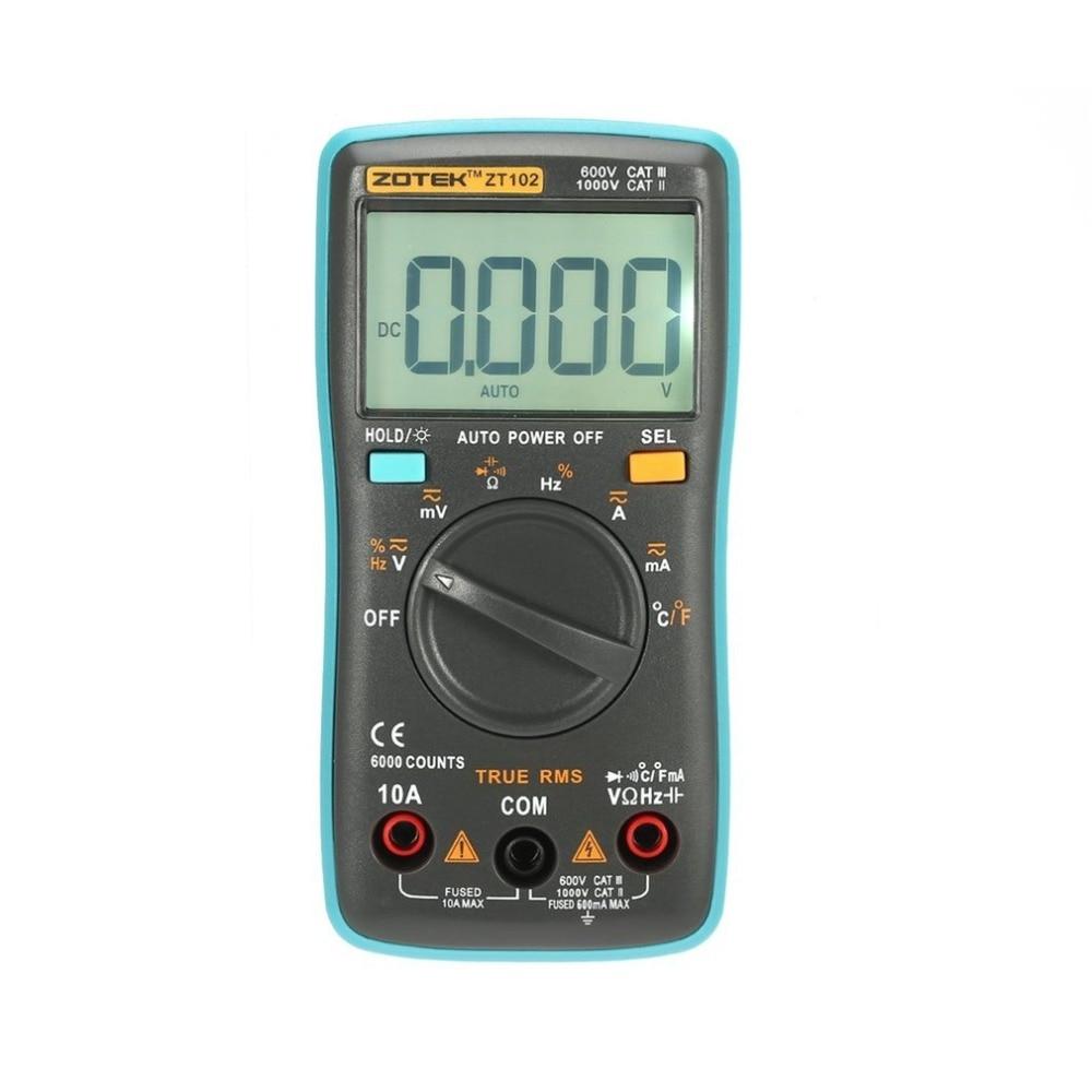 ZT102 multímetro Digital Multimetro esr Transistor Tester Digital RM Mastech uni multi medidor de Sanwa Multimetre