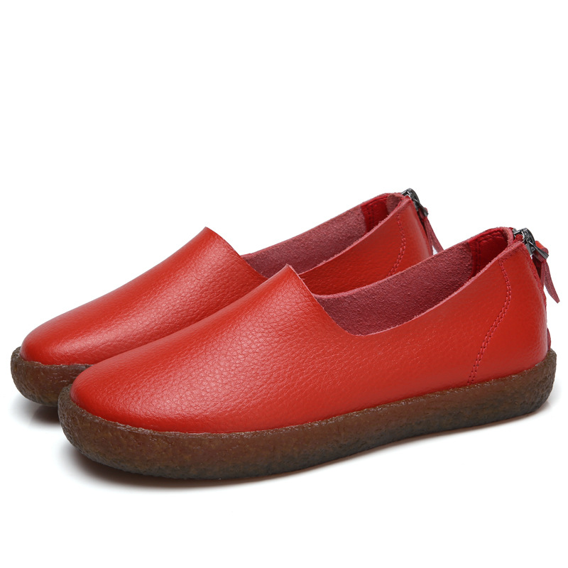 Casual Shoes Flats Spring Ladies Moccasins Slip-On Female Autumn Genuine-Leather Women