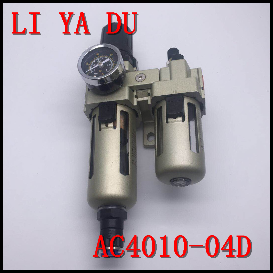 AC4010-04D G1/2 Oil and water separator Gas source treatment filter Duplex pieces automaticity