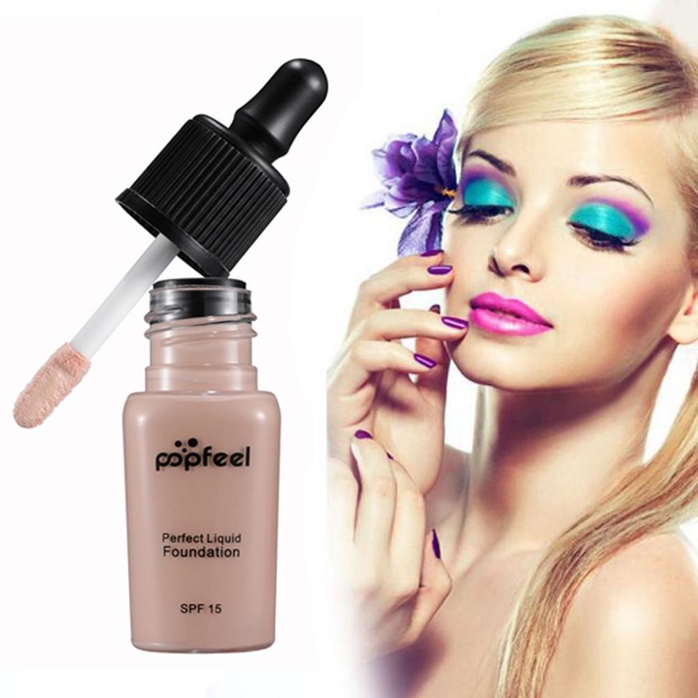 Schönheitsprodukte Qualifiziert Popfeel Make-up Flüssige Foundation Feuchtigkeitsspendende Wasserdichte Langlebige Concealer Bb Creme Ja22