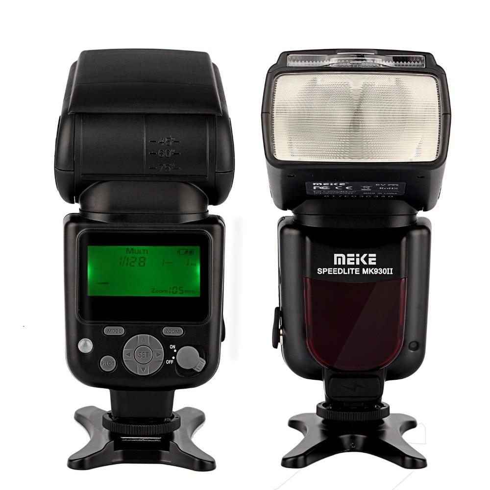MEIKE MK-930 II MK930II MK 930 II for Nikon Canon Olympus Panasonic DSLR Cameras Flash Speedlight Speedlite + diffuser вспышка для фотокамеры meike 570n speedlite speedlight 2 4 g rc9 nikon mk 570n