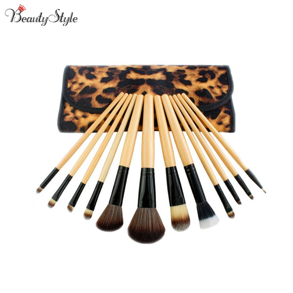 Fashion 12pcs Purple Beautiful Makeup Brushes Set Cosmetics Powder Make Up Blush Soft Mquiagem