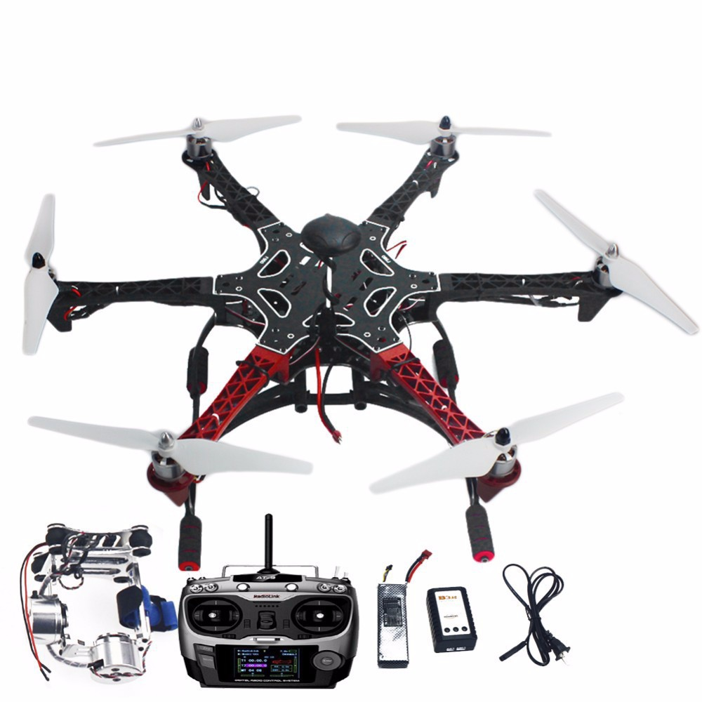 F05114-AS DIY RC Drone Assembled F550 6-Aix RTF Full Kit with APM 2.8 Flight Controller GPS Compass & Gimbal