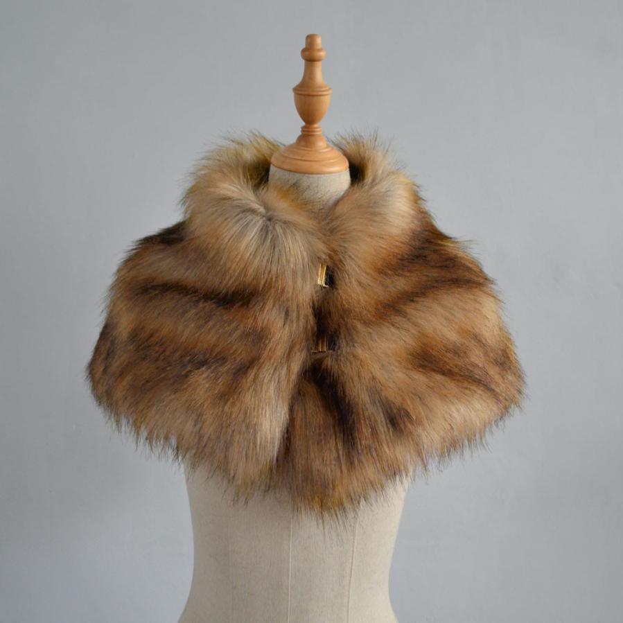 Scarf   2017 Faux Fur Women Winter Long Warm   Scarf   Fashion Ladies Long   Scarves     Wraps   Sep12