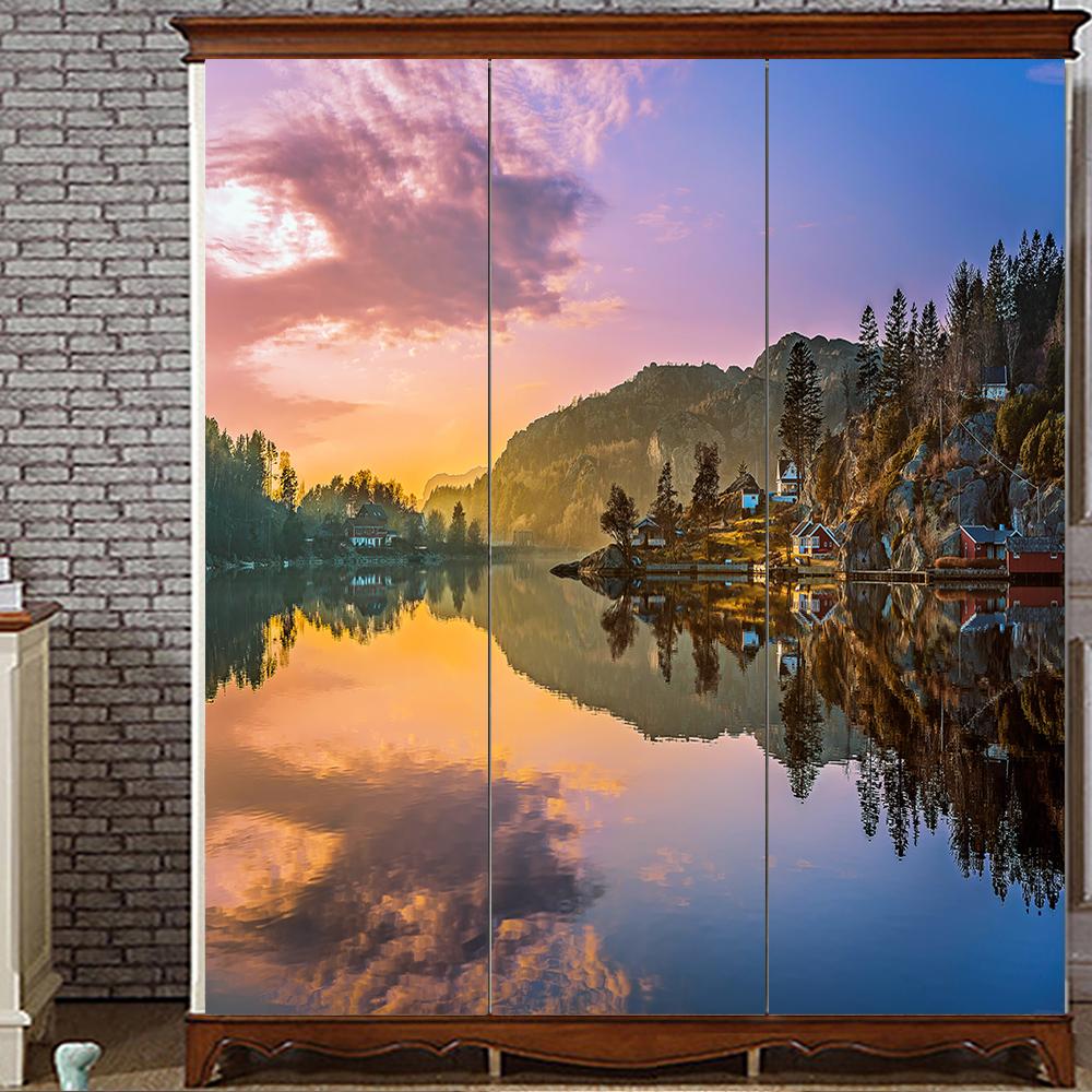 Yazi kundengebundene größe pvc tapete wandbild schlafzimmer kleiderschrank schiebetüren schranktür aufkleber fensterglas film 1 mt x
