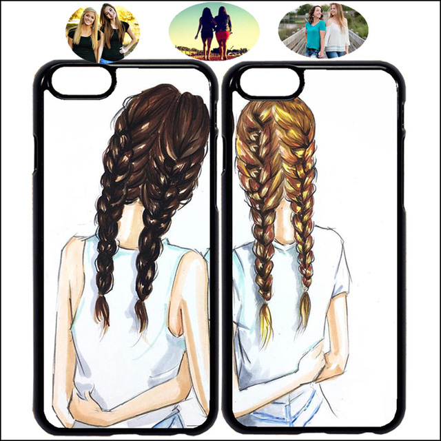 new arrival 3b004 9a5c6 US $3.0  Sister Best Friends Forever Cute BFF Matching Phone Case Cover For  iPhone X 7 8 Plus XR Xs Max 6 6s Samsung + Tempered Glass A56-in Fitted ...