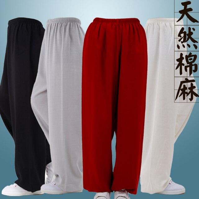 Хлопок одежда и брюки мужской женский Тайцзи боевые искусства упражнения Тайцзицюань весной одежды антистатические фонарь брюки