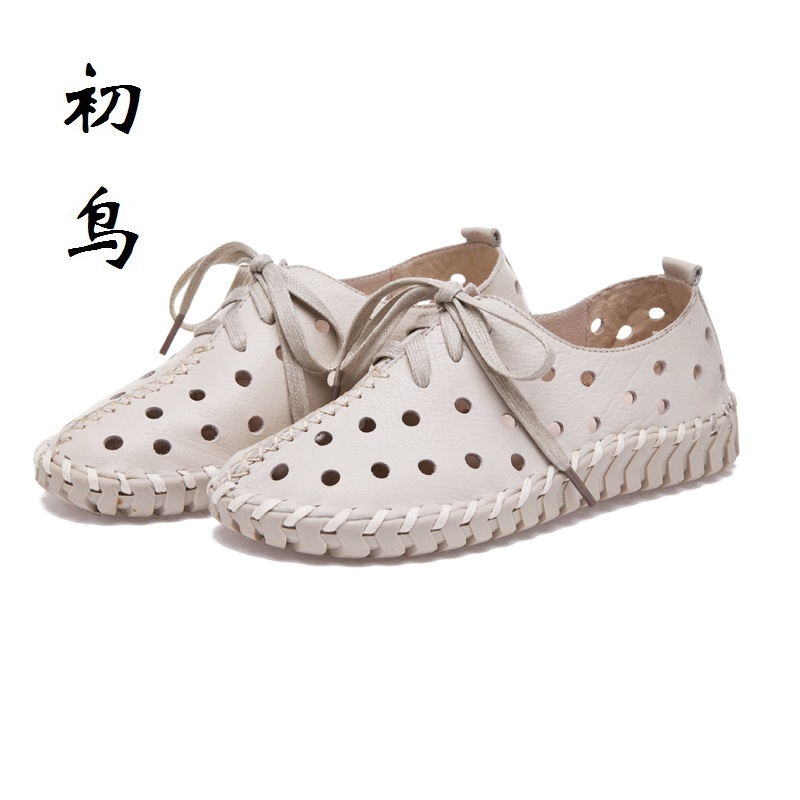 2017 Fashion Genuine Leather Loafers Women Flat Sandals Ladies Creepers Shoes Woman Espadrilles Chaussure Femme Summer Style