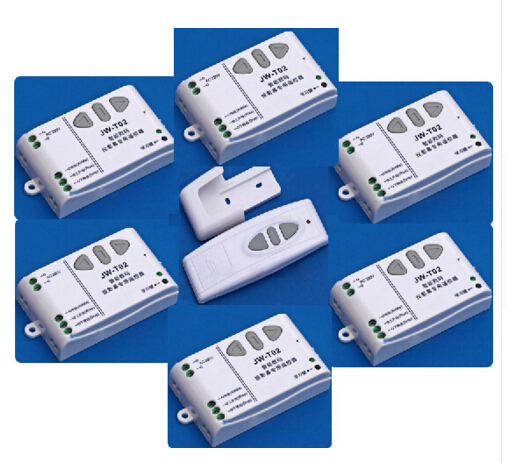 Système de commutation de télécommande sans fil RF numérique intelligent Ac 220 v pour écran de projection 1 * émetteur + 6 * récepteur