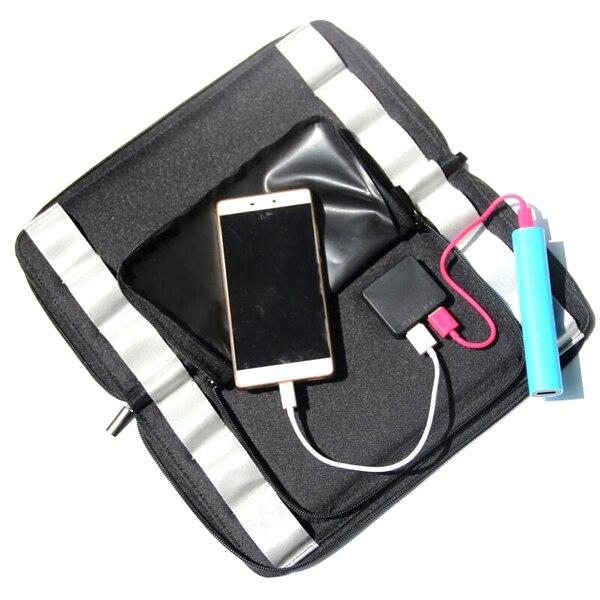 SCLS New Designed Sunpower Solar Panel Solar Powered Phone Battery Charger Solar Bag Foldable/Portable 12 Watt