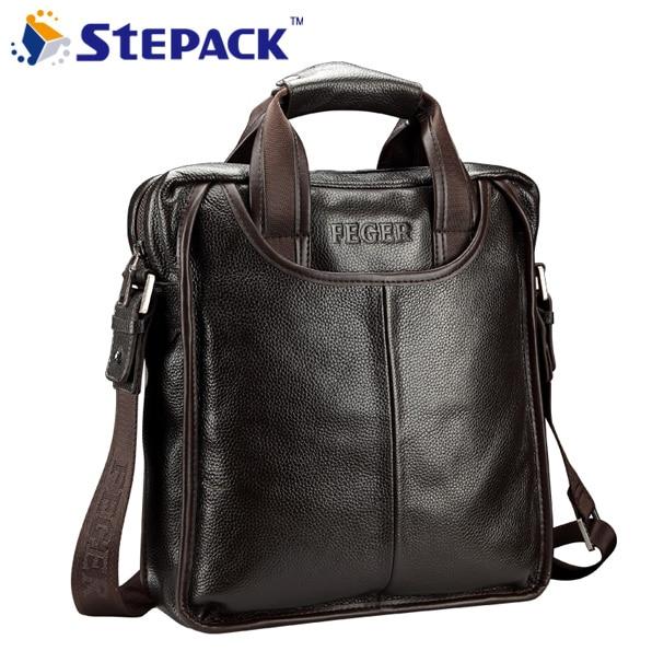 New Fashion Men Shoulder Bag Genuine Leather Handbag Commercial Cowhide Briefcase Messenger Bag Casual Bag genuine leather men briefcase new fashion commercial laptop briefcase cross body shoulder bag n073