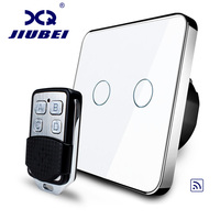Jiubei EU Standard Remote Switch 220 250V Wall Light Remote Touch Switch With Mini Remote Controller