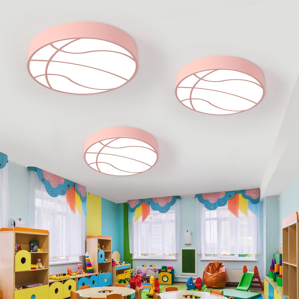 Led basket enfants chambre chambre plafonniers dessin animé maternelle aire de jeux bébé chambre porter magasin lampe à Led créatif LU8111404