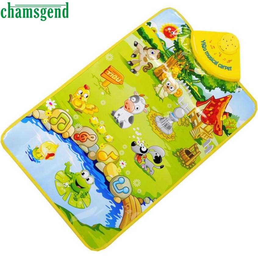 CHAMSGEND Best-seller niños de granja Animal música Musical haz clic en Play Singing Gym alfombra juguete drop ship Nov29 2018