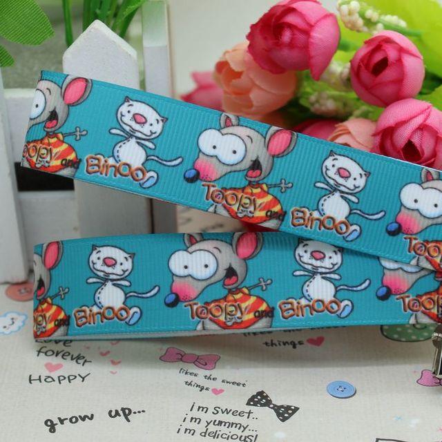 7/8\'\' Free shipping Toopy and binoo cartoon printed grosgrain ribbon ...