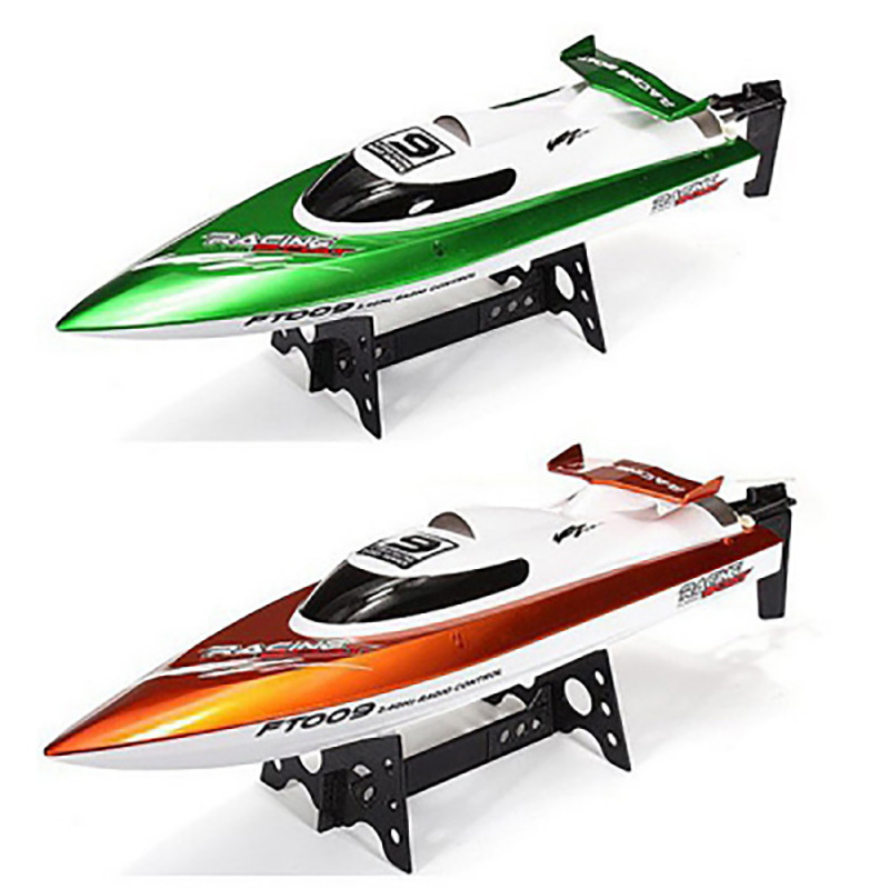 RC Boat Fei Lun FT009 2.4G 4CH RC Racing Boat With Anti-Crash Cover High Speed Yacht Radio Control Boat With Rectifying Function ft007 rc yacht 4ch 2 4g 20km h omni direction high speed racing boat