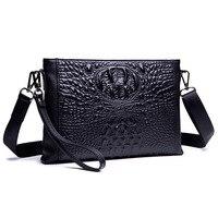 Business Genuine Leather Clutch Bag Mens Crossbody Bags Casual Men Messenger Bag Men's Shoulder Bag Handbags Cell Phone Pocket