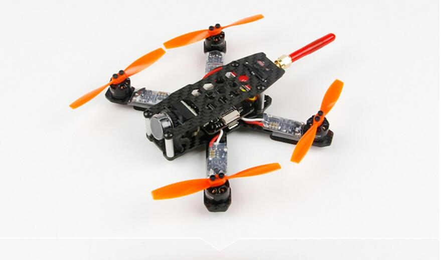 KINGKONG 130GT PNP Drone Carbon Fiber Frame+DSM2+F3 PLUS+1105 Motor+Blheli-6A ESC+3020 Props+800TVL Camera+5.8G VTX No Battery drone with camera rc plane qav 250 carbon frame f3 flight controller emax rs2205 2300kv motor fiber mini quadcopter