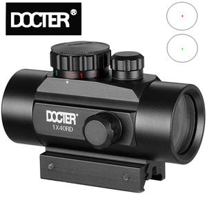 Tactical 1X40 Red Green Dot Sight Scope Optic Collimator Hunting Holographic for Shot Gun Airsoft 11/20mm Rail Mount Riflescopes