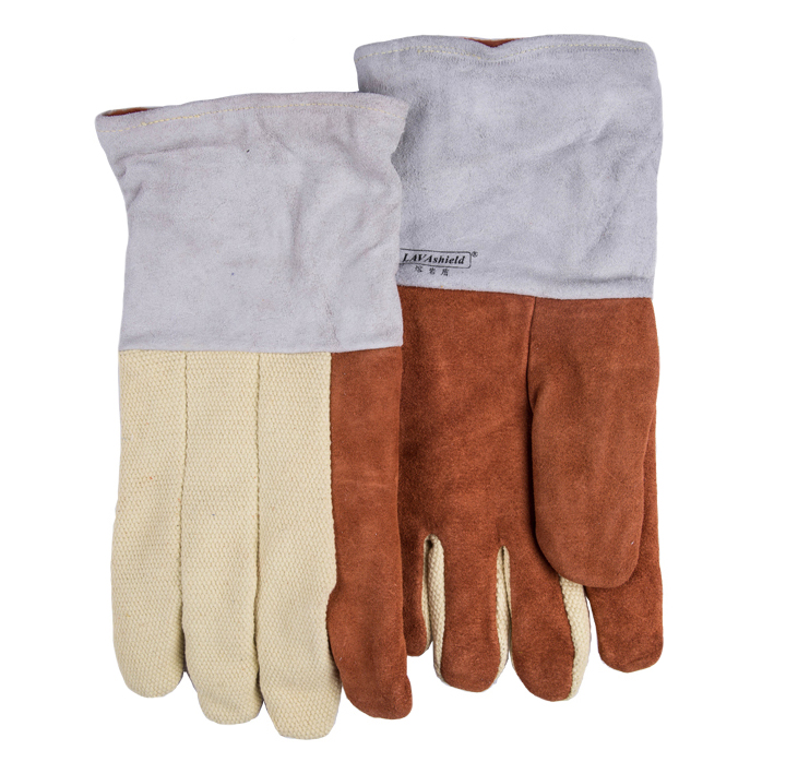 932F High Temp Heat Resistant Welding Gloves BBQ Oven Firebreak Aramid Fiber Work Glove 1 pair free shipping aramid fire insulation gloves heat resistant glove 932f bbq glove oven kitchen glove direct supply
