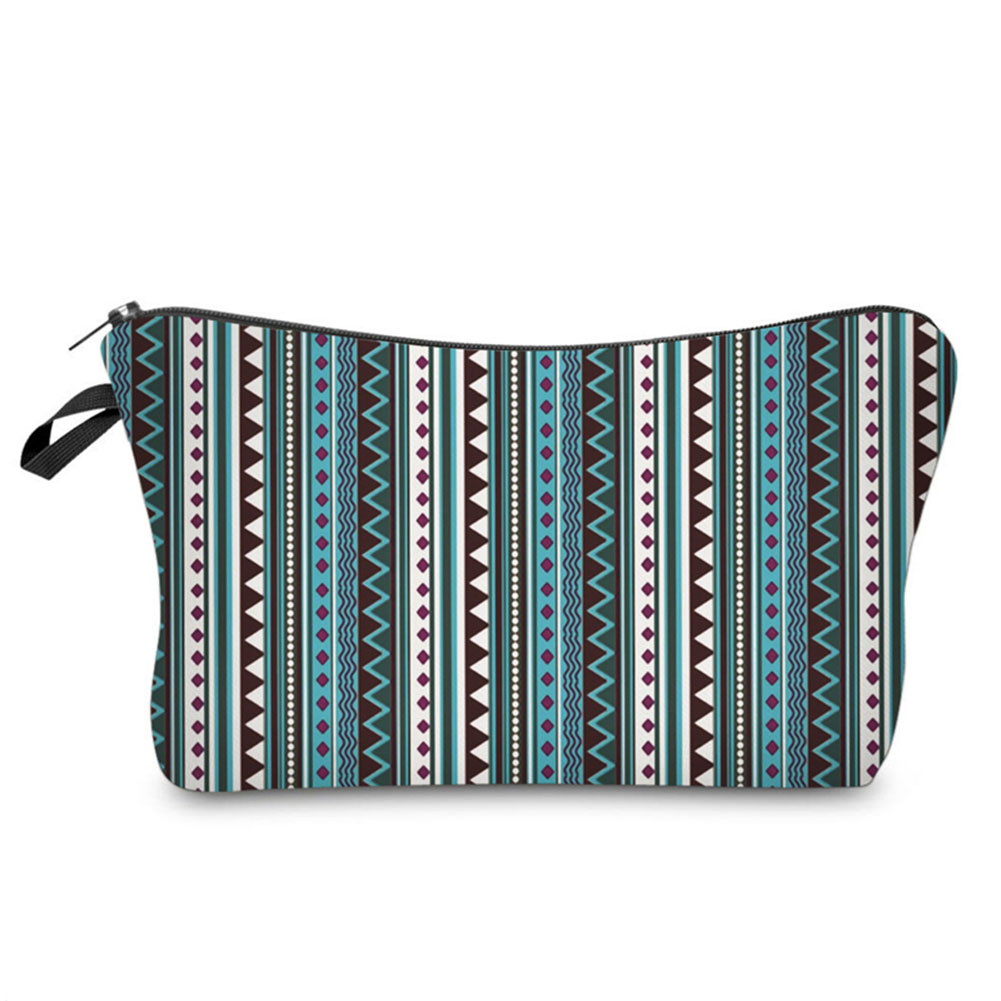 Fashion Vintage Zipped Striped Female Ladies Makeup Organizer Storage Bags Men Women Ethnic Style Travel Cosmetic Bags Popular косметичка lct030 green lct030 london style storage bags travel organize bags