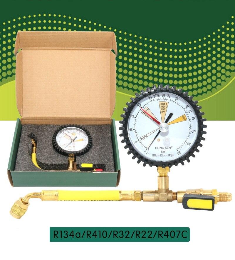 Nova armazenamento a Frio de Refrigeração de Ar Condicionado Refrigerante Mesa medidor de Teste de detecção de Nitrogênio para R134a, R22, R410, r32, R407C