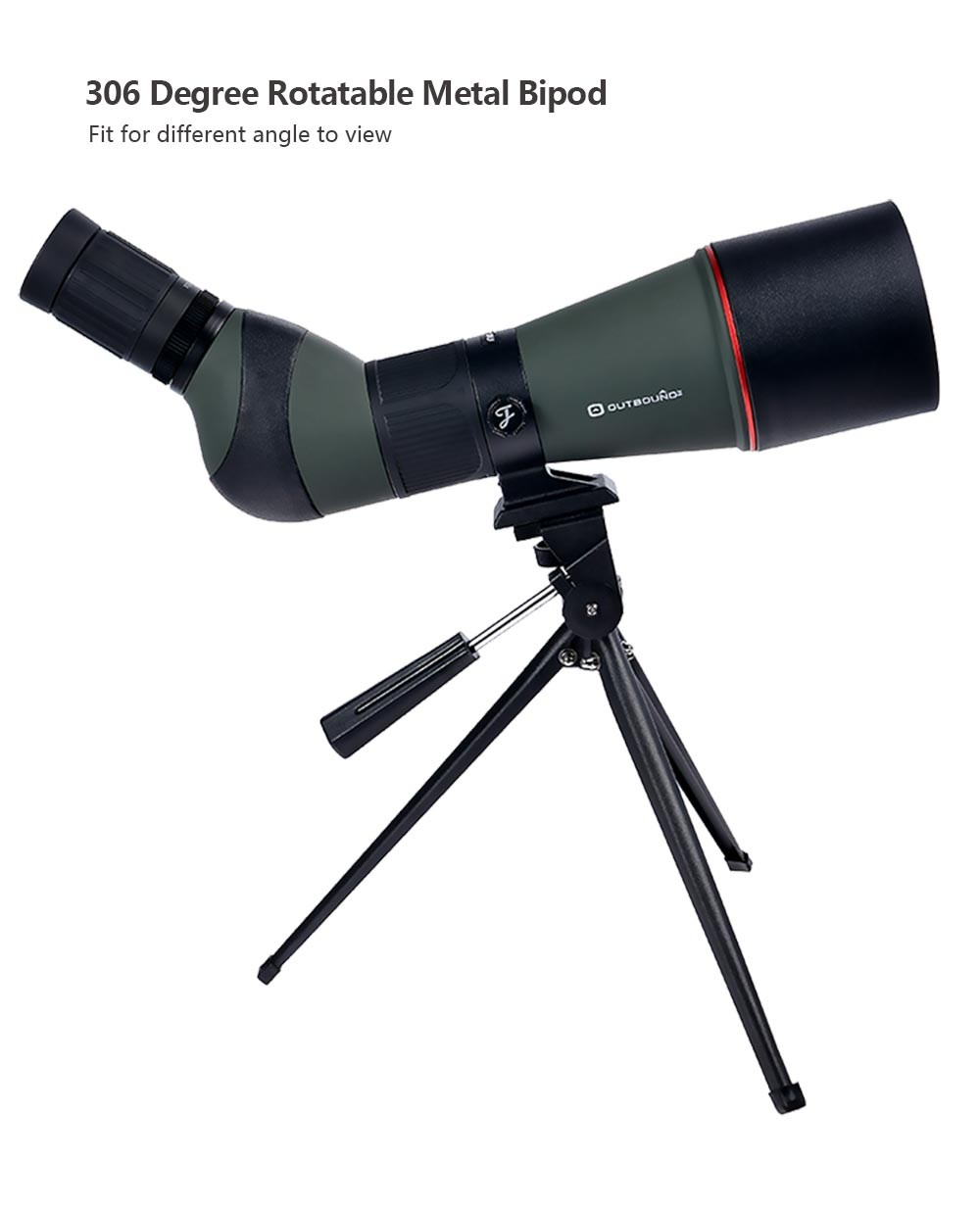JouFou 20-60X80 HD Spotting Scope Waterproof Zoom Target Shooting Optical Glass High Power with Tripod Birdwatching (2)