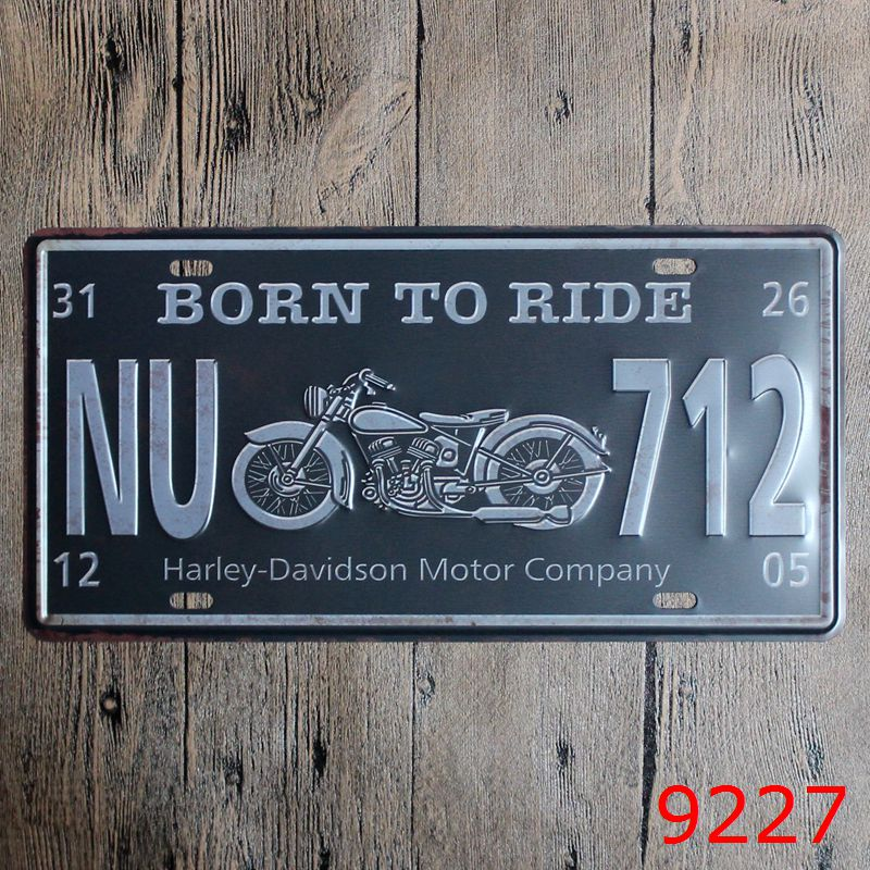 Hot Motorcycle Car Metal Plates Vintage Metal tin sign Bar Wall art craft painting metal art for Home Bar Store Pub 15x30cm