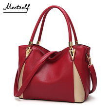 MEETSELF 2018 Fashion Female Bag Ladies Brand PU Leather Handbags Spring Casual Tote Big Shoulder Bags For Woman SVY-8632