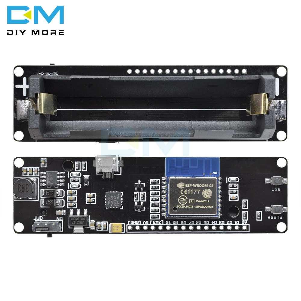 Pour WeMos D1 ESP-Wroom-02 carte mère ESP8266 Mini WiFi Nodemcu Module 18650 charge batterie carte de développement Nodemcu PWM I2C