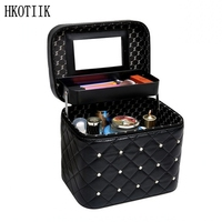 Women Casual Folding Professional Cosmetic Bag High Quality Cute Cosmetic Box Travel Storage Box Large Capacity Suitcase