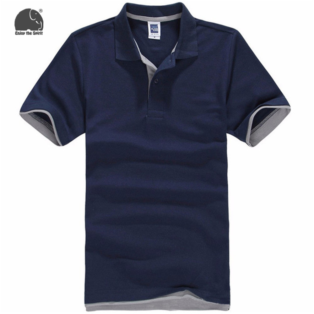 enjoythespirit xs 3xl us size casual polo shirt men navy polo shirt men polo shirts cotton. Black Bedroom Furniture Sets. Home Design Ideas