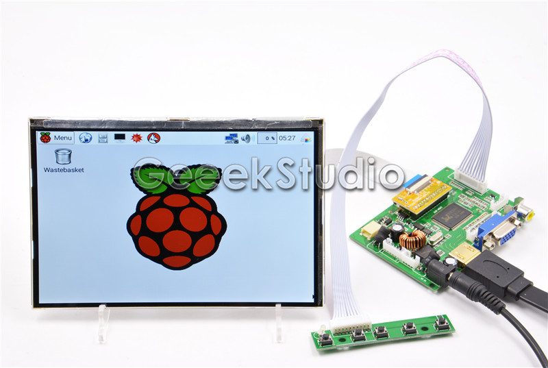 7 Inch 1280*800 LCD Display Monitor Screen with HDMI VGA 2AV Driver Board for Raspberry Pi 3 / 2 Model B 7 inch 1280 800 lcd display monitor screen with hdmi vga 2av driver board for raspberry pi 3 2 model b b a