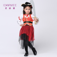 IDARMEE Halloween Kostiumy dla Dziewczyn Sweetheart Swashbuckler Dzieci Pirat Pirat Dziecko Assassins Creed Kostium 3-11Y S9013