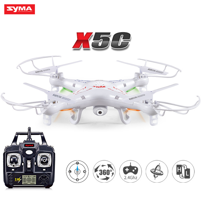 SYMA X5C RC Drone Headless RC Helicopter 2.4G 4CH 6-Axis Remote Control Helicopter Quadcopter With 2MP HD Camera dm006 six axis fixed four axis aircraft rc drone 6 axis remote control helicopter quadcopter with 2mp hd camera or x5 r