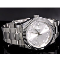 40MM parnis white dial vintage automatic movement mens watch P25|watch boat|watch sennawatch moon -