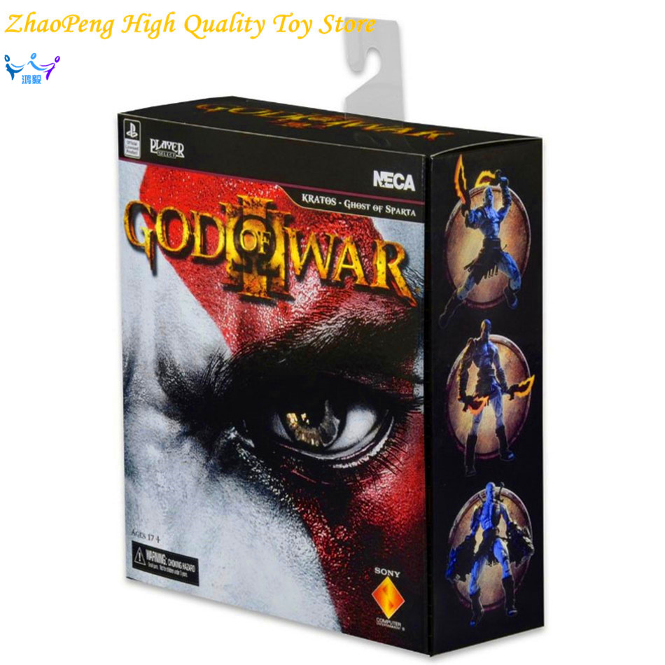 Free Shipping NECA Anime God of War 3 Ghost of Sparta Kratos PVC Action Figure Collectible Model Toy 22cm Retail Box FB226