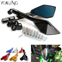Motorcycle Mirrors motorbike moto CNC Rearview side Mirror Aluminum For yamaha mt 09 mt10 mt 07 Tmax 500 Tmax 530 KTM RC 125 200