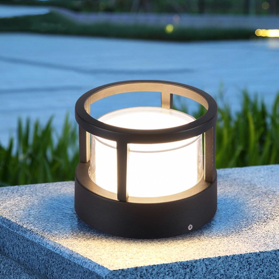 thrisdar 12 w luz coluna do jardim ao ar livre a prova dwaterproof agua paisagem patio