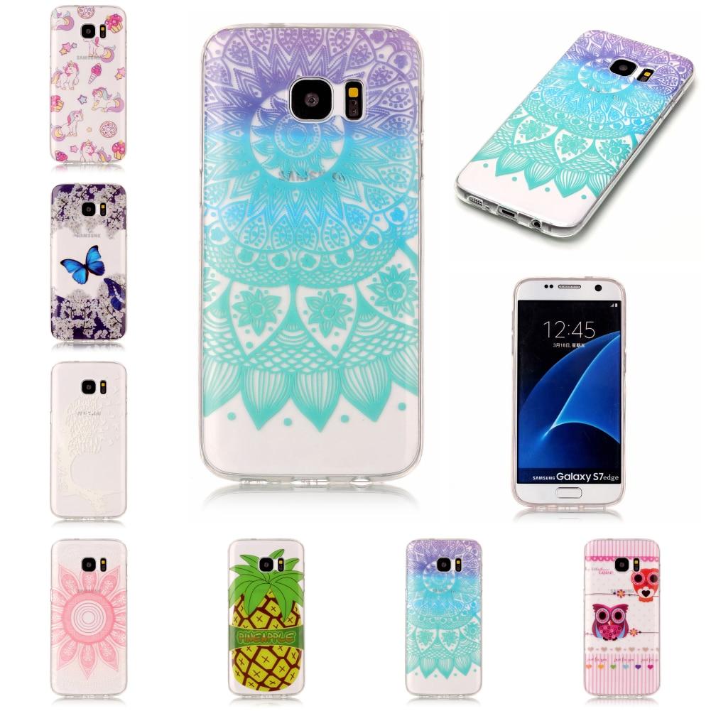 For Sansung Samsug Samsu Samsung Galaxy S7 Edge SM-G935F Silicone Transparent Ultra Thin TPU Phone Mobile Case Fundas Carcasa