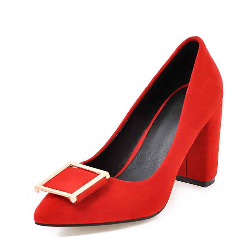 2017 women's spring shoes plus size bow shallow mouth pointed toe high-heeled shoes thick heel single shoes female work shoes цены онлайн