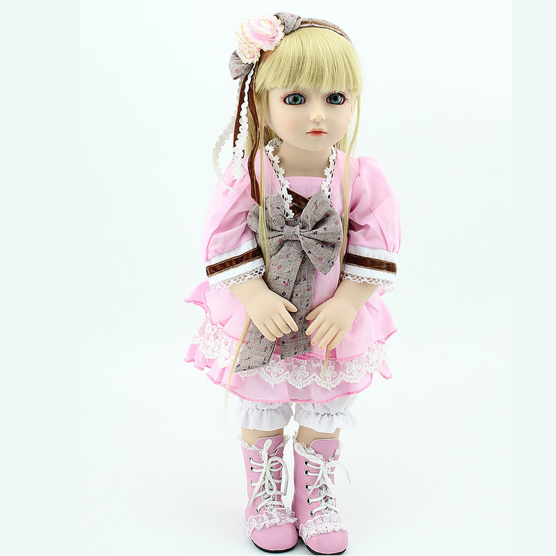 2015 Best Gift Hot Sale Beautilful Lifelike Doll Girl High Quality Silicone BJD Baby Doll Toy For Girls handmade 18 cute china girl doll reborn baby doll sd bjd doll best bedtime playhouse toy enducational toy for girls as gift