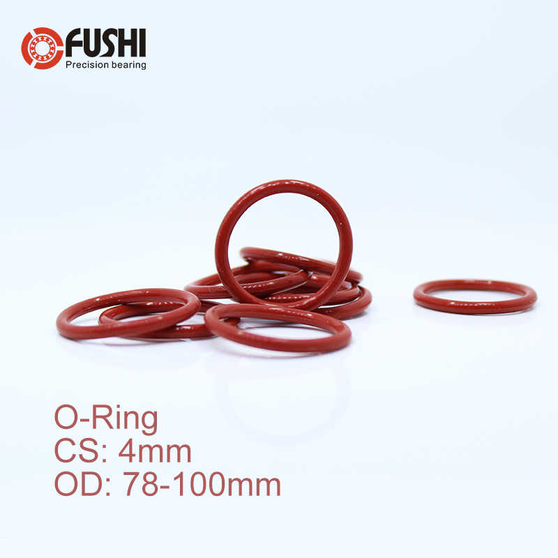 cs4mm silicone o ring od 78 80 82 85 87 88 90 92 95 98 4 mm 30pcs o ring vmq gasket seal thickness 4mm oring white red rubber aliexpress www aliexpress com
