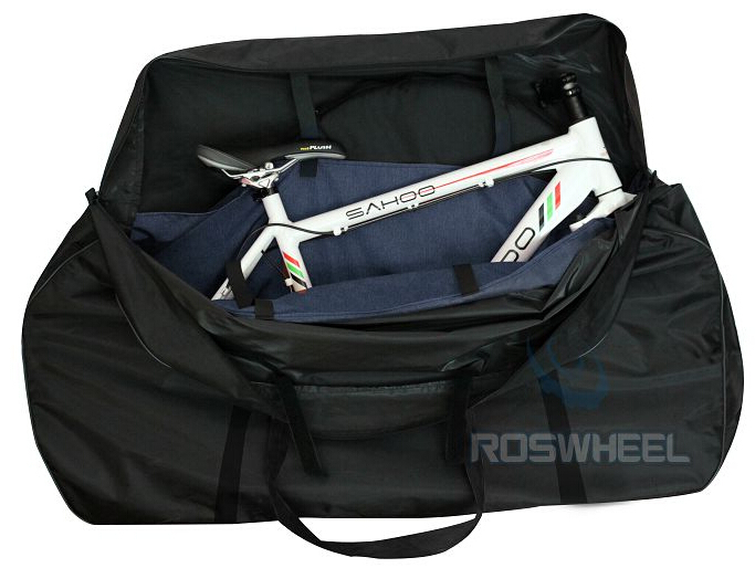 New ROSWHEEL 73cm Waterproof 700C Road & 26 MTB Bike Bicycle Cycling 2 Wheel bag and Transport 1 Carrier Carry Holder Bag roswheel attack series waterproof bicycle bike bag accessories saddle bag cycling front frame bag 121370 top quality